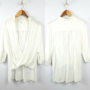 3 for $25- UO Silence + Noise Drape Front Top